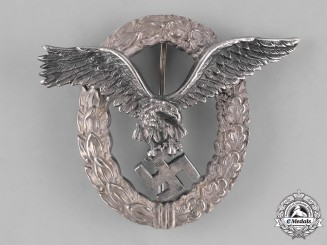 Germany, Luftwaffe. A Pilot Badge by C. E. Juncker