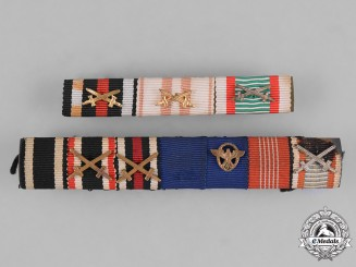 Germany/Austria. Two First And Second War Medal Bars