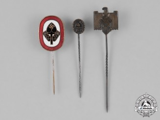 Germany. A Lot Of Three Third Reich Stick Pins