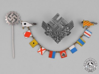 Germany. A Lot Of Three Third Reich Insignia (RADwJ, DAF, NSDAP)