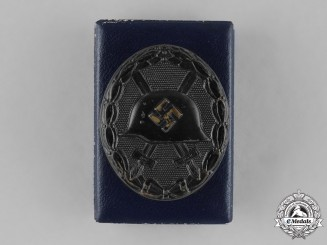 Germany, Wehrmacht. A Black Grade Wound Badge by Carl Wild, with Case