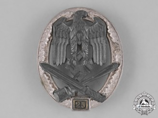 "Germany, Wehrmacht. A General Assault Badge, Special Grade ""25"", by Josef Feix & Söhne"