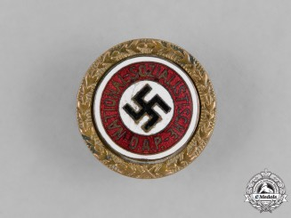 Germany, NSDAP. A Golden Party Badge, Small Version by Josef Fuess