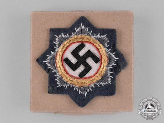 Germany, Luftwaffe. A German Cross in Gold, Cloth Version for Luftwaffe