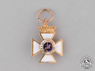Spain, Franco's Period. A Miniature Order of St. Hermenegild, Knight c.1950