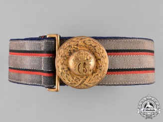 Wurttemberg, Imperial. An Officer's Brocade Dress Belt and Buckle