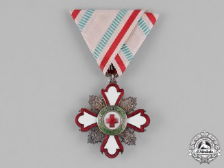 Bulgaria, Kingdom. A Red Cross Order for Incentive to Humanity, II Class for Gentlemen