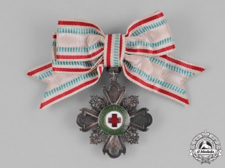 Bulgaria, Kingdom. A Red Cross Order for Incentive to Humanity, III Class for Ladies