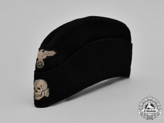 Germany, Waffen-SS. A Panzer EM/NCO's M40 Overseas Cap, by Georg Teutd