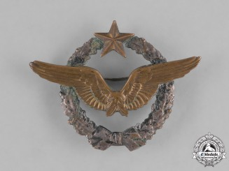 France, Republic. An Air Force Pilot Brevet Badge, c.1935