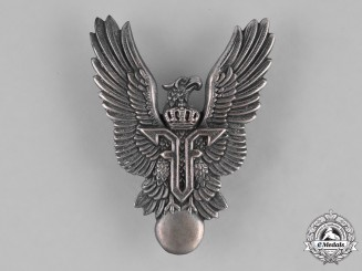 Romania, Kingdom. An Air Force Pilot Badge, c.1940