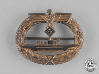 Germany, Third Reich. A U-Boat War Badge, by Friedrich Orth, Variation Two
