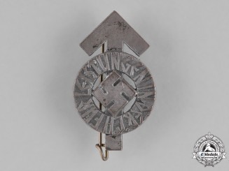 Germany, HJ. A Bronze Grade HJ Proficiency Badge by Wachtler & Lange