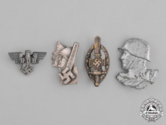 Germany, Third Reich. A Grouping of Second War Miniature Badges