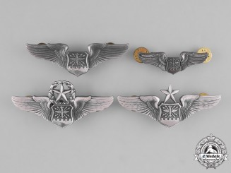 United States. Four Air Force Navigator/Observer Badges (now called Combat Systems Officer Badge)