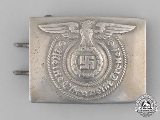 Germany, SS. A SS EM/NCO Belt Buckle by Overhoff & Cie.