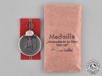 Germany, Heer. A Medal for the Winter Campaign in Russia 1941/1942 and Manufacturer's Packet, by E. Ferd Weidmann