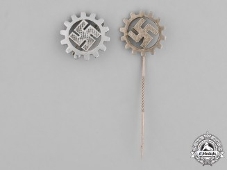 Germany, Third Reich. A Grouping of German Labour Front (DAF) Pins
