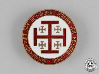 Germany, DVHL. A German Association of the Holy Land Badge by L. Chr. Lauer, c.1914