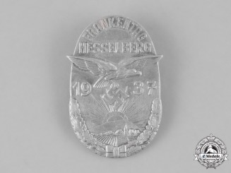 Germany. A 1937 Frankentag Hesselberg Badge, by C. Balmberger