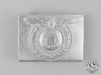 Germany, SS. A SS Enlisted Man's Belt Buckle by RZM 822/37, 1937