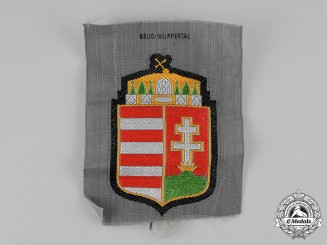 Germany, Third Reich. A Mint & Unissued Hungarian Volunteer Shoulder Patch by BeVo Wuppertal