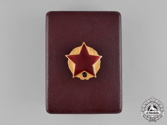 Albania, State. An Order of Partisan Star in Gold, I Class, Number 2