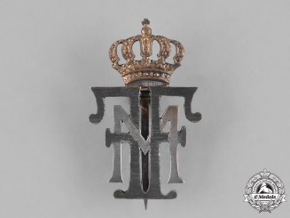 Romania, Kingdom. A Badge Commemorating the Coronation of King Ferdinand and Queen Marie, c.1922