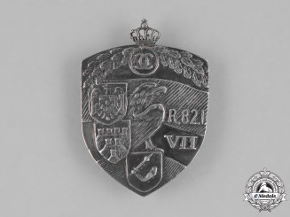 Romania, Kingdom. An Officer's Regiment Badge for the 82nd Infantry Regiment by Heinrich Weiss, c.1930s