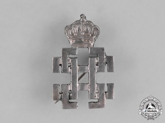 Romania, Kingdom. A King Carol Commemorative Badge