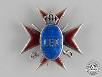 Romania, Kingdom. A Romanian Officer's Badge, c.1930s