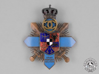 Romania, Kingdom. A Military Officer's Athlete Achievement  Badge, c.1930