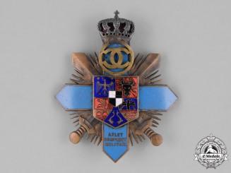 Romania, Kingdom. A Military Officer's Athlete Achievement  Badge, c.1930