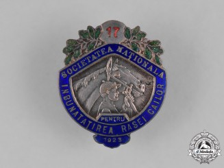 Romania, Kingdom. A National Society for the Improvement of Horses Badge, 1923
