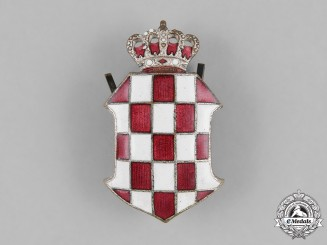 Croatia, Banovina. Police Officer's Cap Badge, 1939-1941