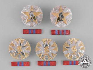 Yugoslavia, Republic. Five Orders of the Meritorious Service to the Nation