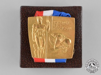 Yugoslavia; Slovenia. Golden Ski Medal to Stane Dolanc, one of Tito's closest collaborators