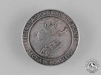 Romania, Kingdom. A Federation of Mountain Sports, Bobsleigh Section Badge