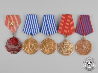China, People's Republic, Yugoslavia, Socialist Federal Republic. Five Awards