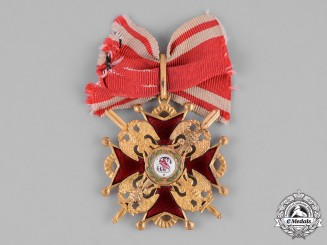 Russia, Imperial. An Order of St. Stanislaus, III Class with Swords