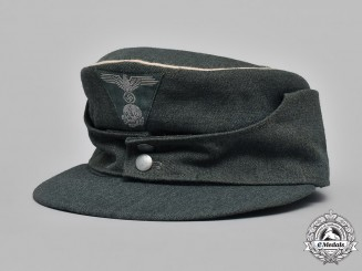 Germany, Waffen-SS. A Late War Issue SS M43 Officer's Field Cap