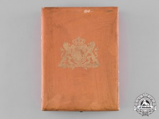 Netherlands, Kingdom. An Order of Orange-Nassau, Commander's Case, by Roelof Citroen