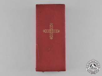 Romania, Kingdom. An Order of Carol, I Class Grand Cross Case, c.1930