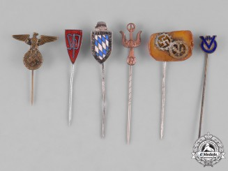 Germany, Third Reich. A Group of Second War Period Stick Pins