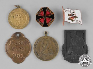 Germany, Third Reich. A Group of Second War Period Day Badges and Coins