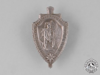 Germany, Third Reich. A Mountain Troop Day Badge by J. Schwertner