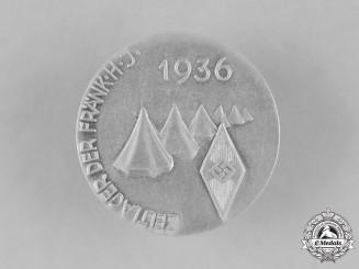 Germany, HJ. A 1936 Franken HJ Camping Day Badge