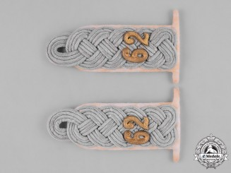 Germany, Heer. A Pair of Heer Major Shoulder Boards for Summer White Uniform