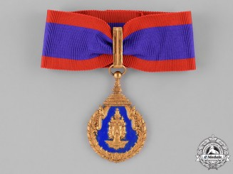Laos, Kingdom. A Medal for Excellence in Education, I Class Commander