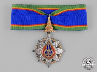 Thailand, Kingdom. A Most Noble Order of the Crown of Thailand, III Class Commander, c,1950